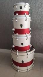 Bateria Acústica R4 Custom Drums 13/16/18/24