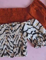Blusas e croppeds
