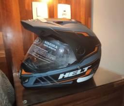 Capacete para moto cross Helt Cross Vision Triller laranja tamanho 62