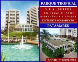 Título do anúncio: Parque Tropical, 3 e 4 suíte, entre 113 à 155m² com 2 ou 3 vagas em Patamares - Imperdível