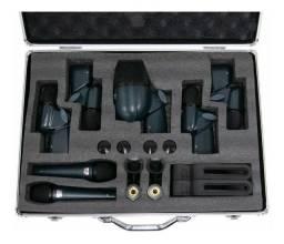 Kit de Microfone para bateria Arcano 7 pcs com maleta e garras