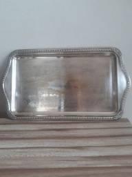 bandeja eberle antiga de metal banhada à prata