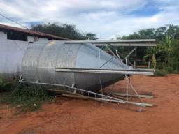 Silo metalico para grãos e ração - 18 ton