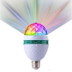 Lâmpada De Led Giratória Rotativa Colorido Bola Maluca Festa