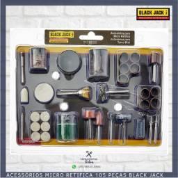 Título do anúncio: Kit 105 Acessórios para Micro Retífica - Black Jack [Produto Novo/Embalagem Lacrada]