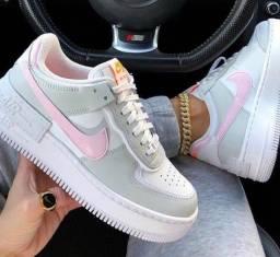Tênis air force cinza com rosa 35 e 37