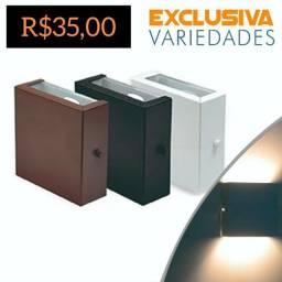 Título do anúncio: Arandela Box Slim 2 Fachos de Luz Preta