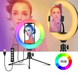 Título do anúncio: Luminaria LED Ring Light youtuber 8? RgB Mj20