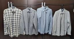 Quatro Camisas Mais Três Jaquetas, 12x Sem Juros
