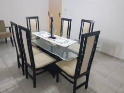 Título do anúncio: Vendo - Mesa de Jantar com 6 cadeiras e aparador