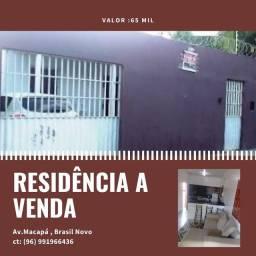 Título do anúncio: Vendo uma casa no Brasil novo ,