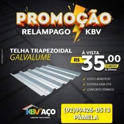 Título do anúncio: Telhas galvalumes promoção apartir de 35,00 o metro somos de Manaus