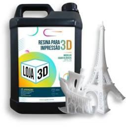Resina para Impressão 3D - Loja 3D - Branca - 5 Litros