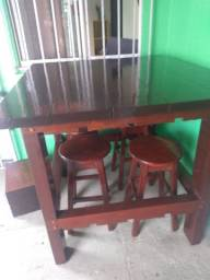 Título do anúncio: Mesa de madeira toda de sucupira
