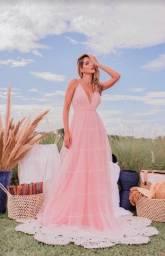Título do anúncio: Vestido longo em TULE | Madrinhas e Convidadas