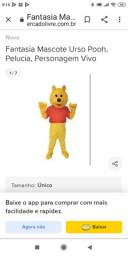 Personagem vivo Urso Pooh