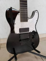 Título do anúncio: Ltd Sct-607b Black (ñ Esp, Ibanez, Schecter, Prs, Gibson)