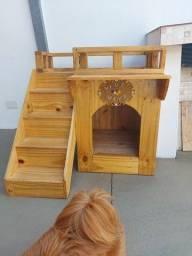 Título do anúncio: Casa de cachorro/gato em madeira palet