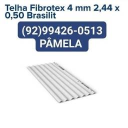 Título do anúncio: Telhas Fibrotex 2,44x0,50 valor 24,00 somos de Manaus