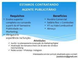Título do anúncio: Vaga Agente Publicitário