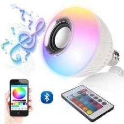 Título do anúncio: Abaixou - Lampada Bluetooth Led Caixa D Som Música Controle 2 Em 1 Mp3 - 2