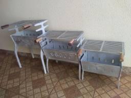Churrasqueira alumínio batido vários tamanhos e Valores Promoção