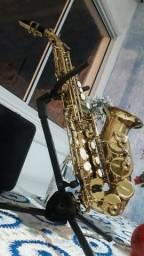 SAX soprano curvo sopranino aceito troca por sax alto