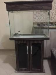 Aquário de 120 litros, com armário