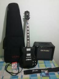 Guitarra strinberg SG. Cubo meteoro nitrous drive
