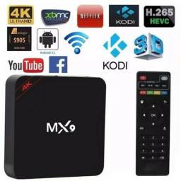 V Box Mx9 Android 7.1 4k Wifi Youtube ( Entrega Grátis )
