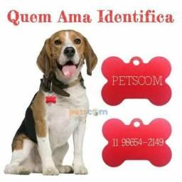 Plaquinhas de identificação pet