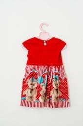 Vestido Vermelho Urso
