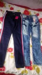 Vendo calca cintura alta e baixa e cropped