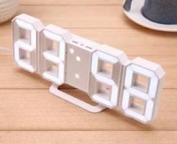 Relógio Digital Led Mesa Parede Data Temperatura Despertador