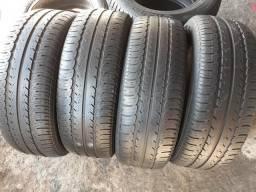 Vendo 4 pneus 195-60-R15 meia vida original da goodyear
