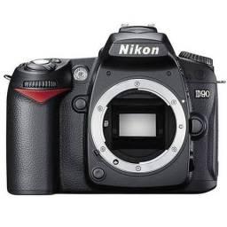 Câmera Profissional Nikon D90 com lente
