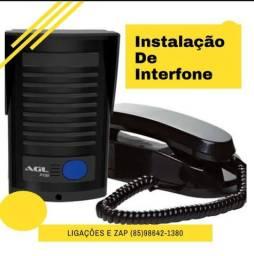 Instalação de vídeo porteiro e interfone