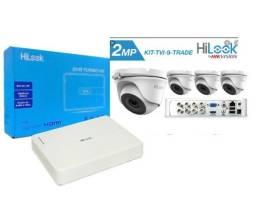 Oportunidade Kit HiLook 4 Cameras com Dvr 4ch 1080P 2MP 20M Full Hd