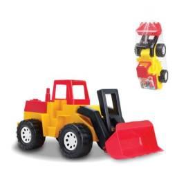 Brinquedo trator escavador