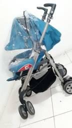 Vendo carrinho de bebê Chicco com protetor de chuva
