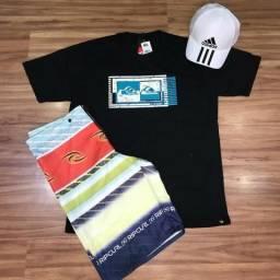 Bermudas elastano e camisas