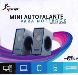 Mini Caixa De Som Pc Notebook Mac 5w Rms Usb 2.0 P2 Knup