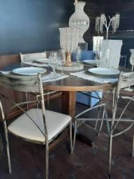 Cadeiras de ferro/ Preta, Bege, Branca e Rústica (dourado c/pátina preto)