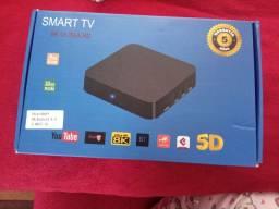 Tv box novo com garantia transforme sua tv em smart e já vai cm 1 mês grátis dos canais