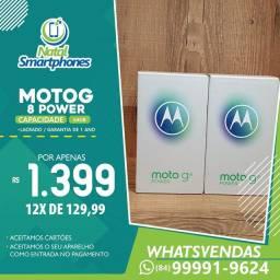 Moto MOTO G8 POWER 64GB BATERIA 5.000MAH *LACRADO+NOTA FISCAL* AZUL OU PRETO