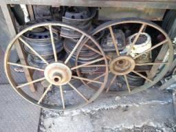 2Rodas ferro masissas de carroagem