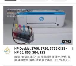 Fazer instalação  de bulk ink