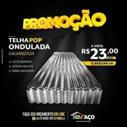 Título do anúncio: Telha pop 2,44X0,66 valor 23,00 a unidade somos de Manaus
