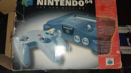 Nintendo 64 completo +  Zelda Ocarina of Time + Internation superstar soccer 64