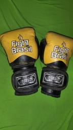 Título do anúncio: Luva de boxe usada amarela fight brasil
